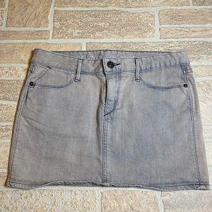 Ernest Sewn 28 Gray Denim Skirt